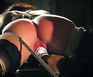 Teen sex slave is tied..